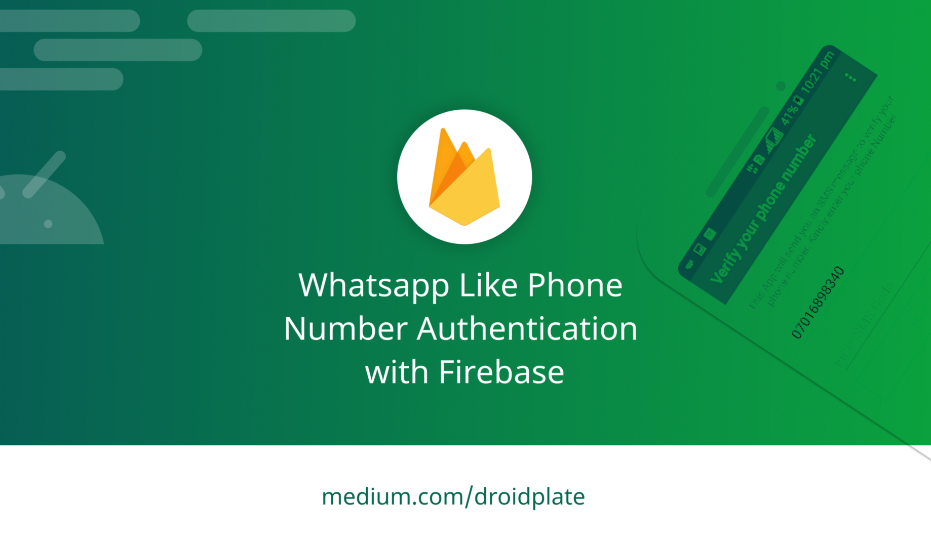 Whatsapp Like Phone Number Authentication with Firebase