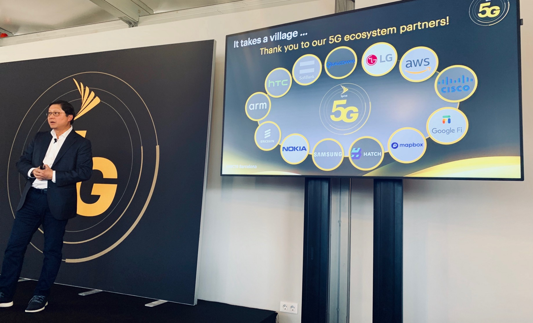 Sprint 5G Maps launch at Mobile World Congress - Points of interest