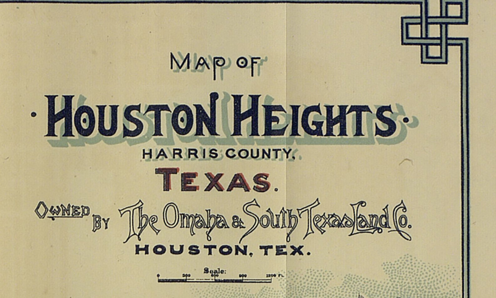 Mapping Houston Heights — Houston's First Suburb - Save Texas