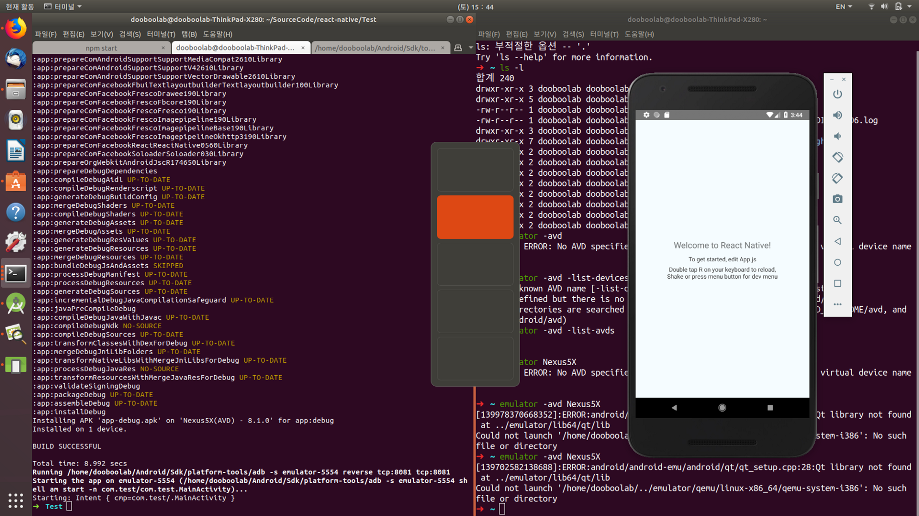 Running react-native app in ubuntu 18 04 - dooboolab - Medium
