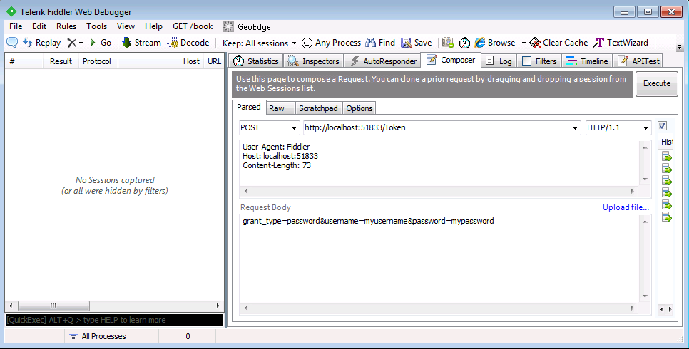 Using Fiddler to call Authorized ASP NET Web API endpoints
