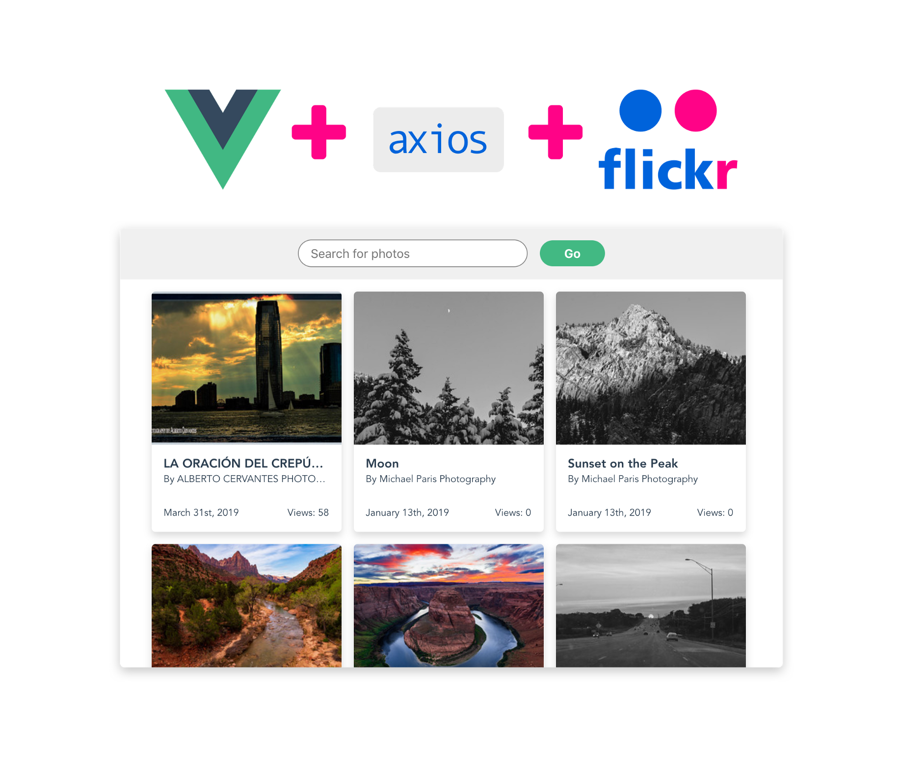 Simple Photo App with Vue js, Axios and Flickr API — Part 1