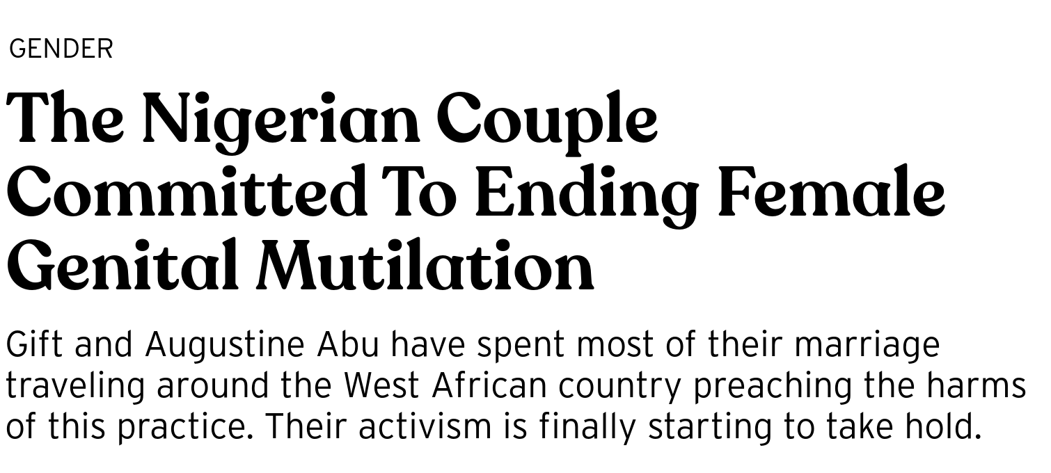 the nigerian couple committed to ending female genital mutilation