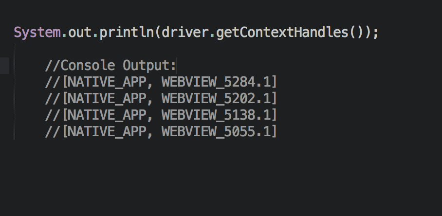 Switching to a Dynamically Named Context Handle with Appium and Java
