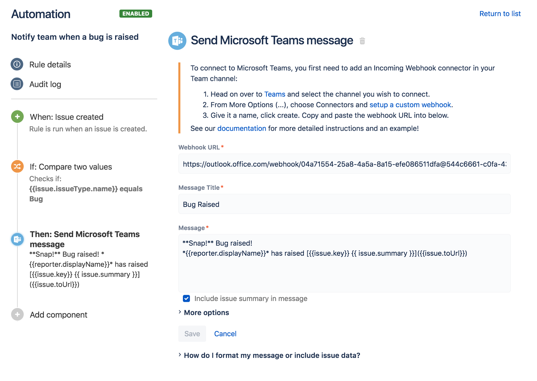 Microsoft Teams — now available with Automation for Jira