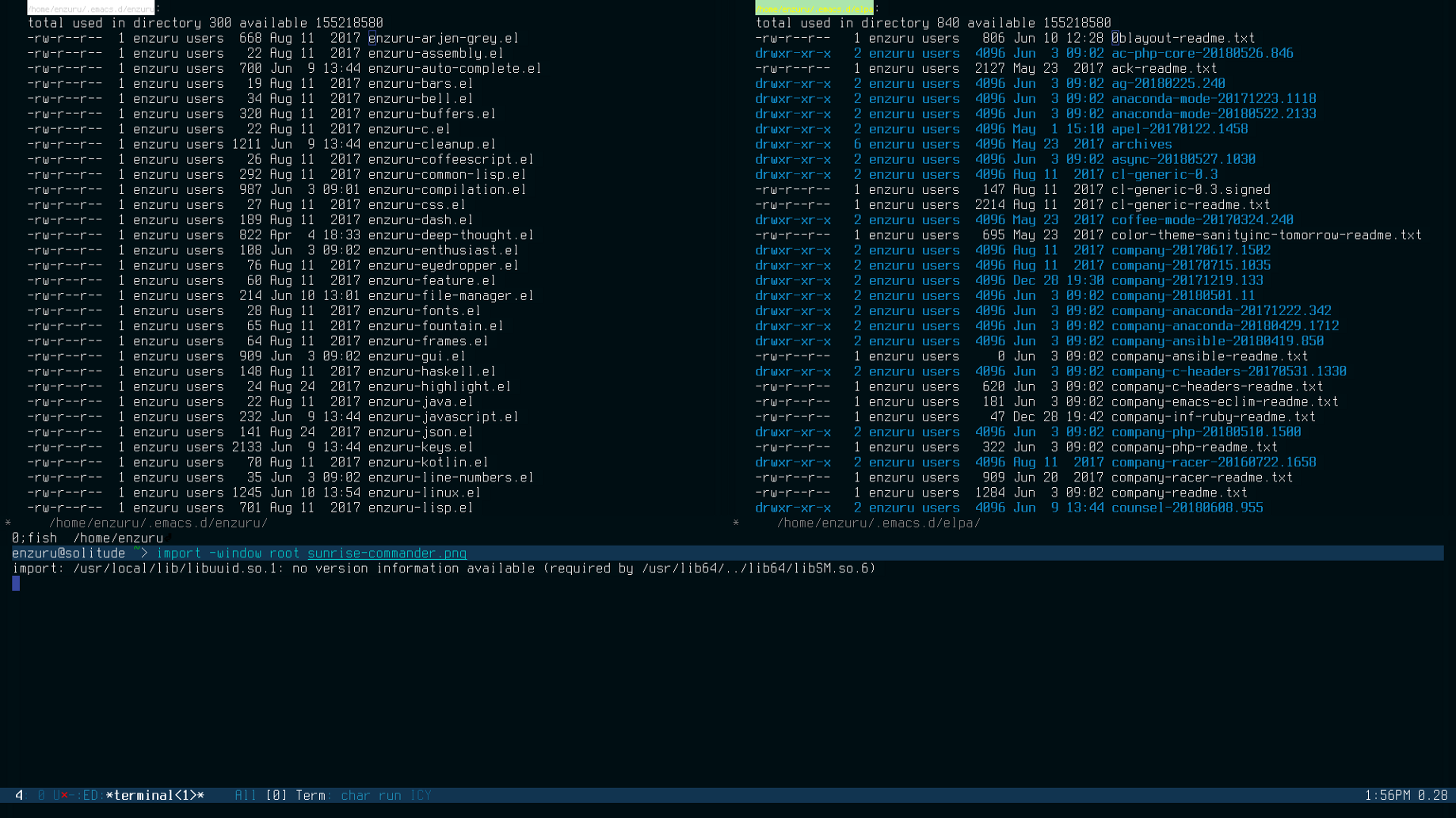 Sunrise Commander, an orthodox file manager for Emacs
