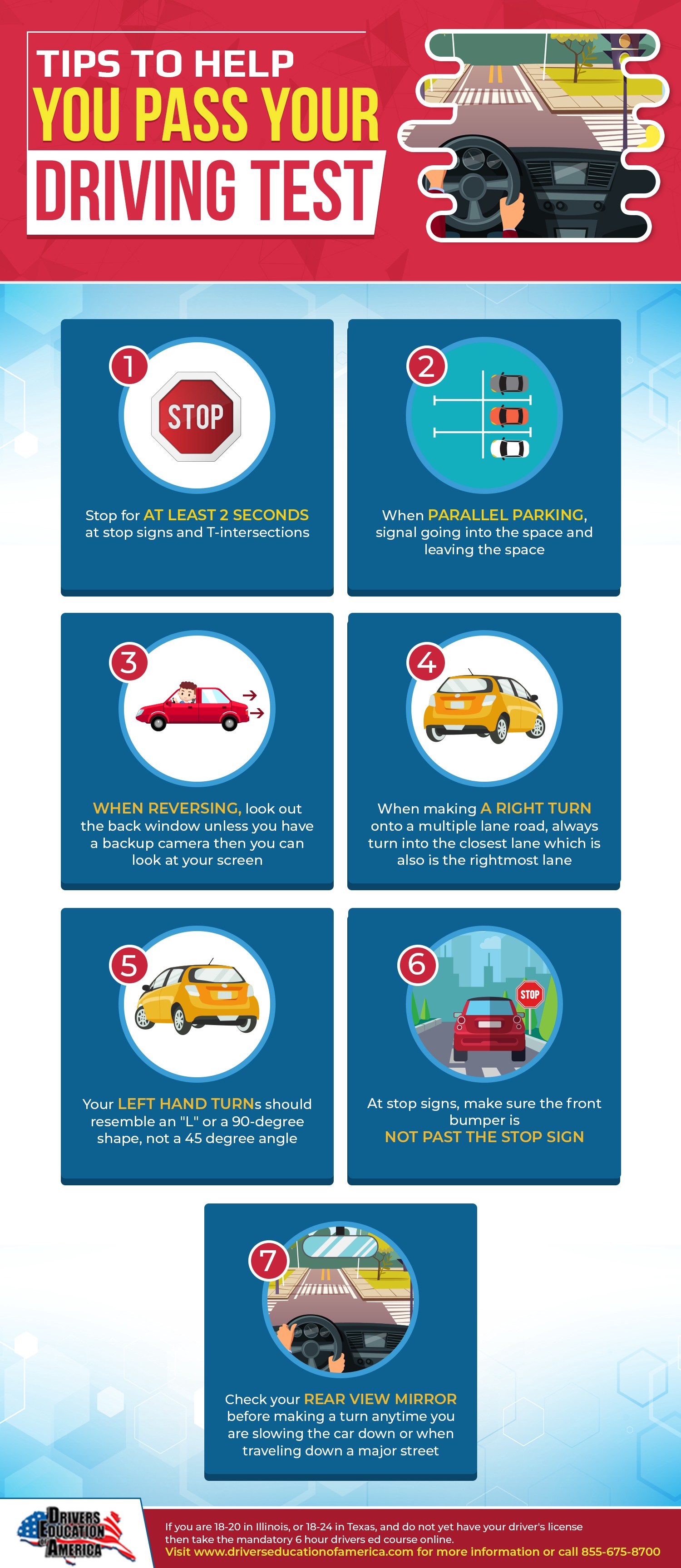 Tips To Help You Pass Your Driving Test [Infographic]