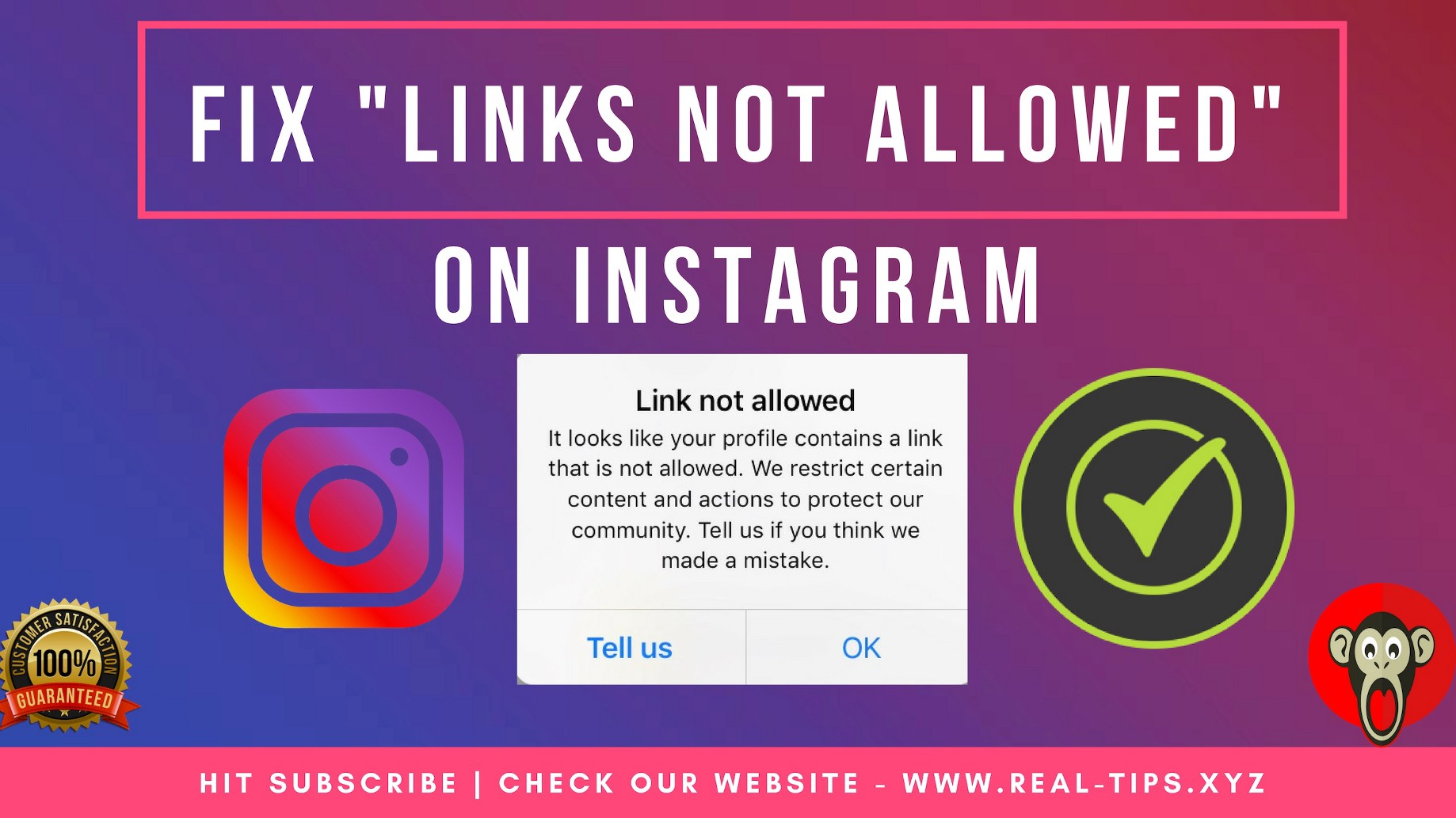 Instagram Links Not Allowed — Easy Way To Fix [Tutorial Guide]