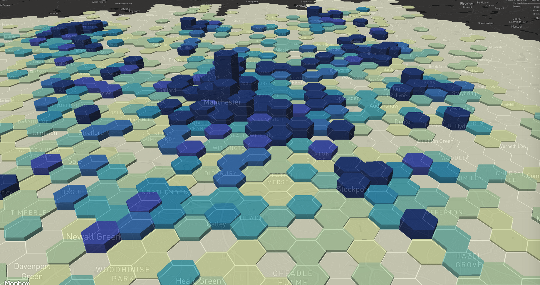 Making a Hex Bin Layer for Greater Manchester - Jamie Whyte - Medium