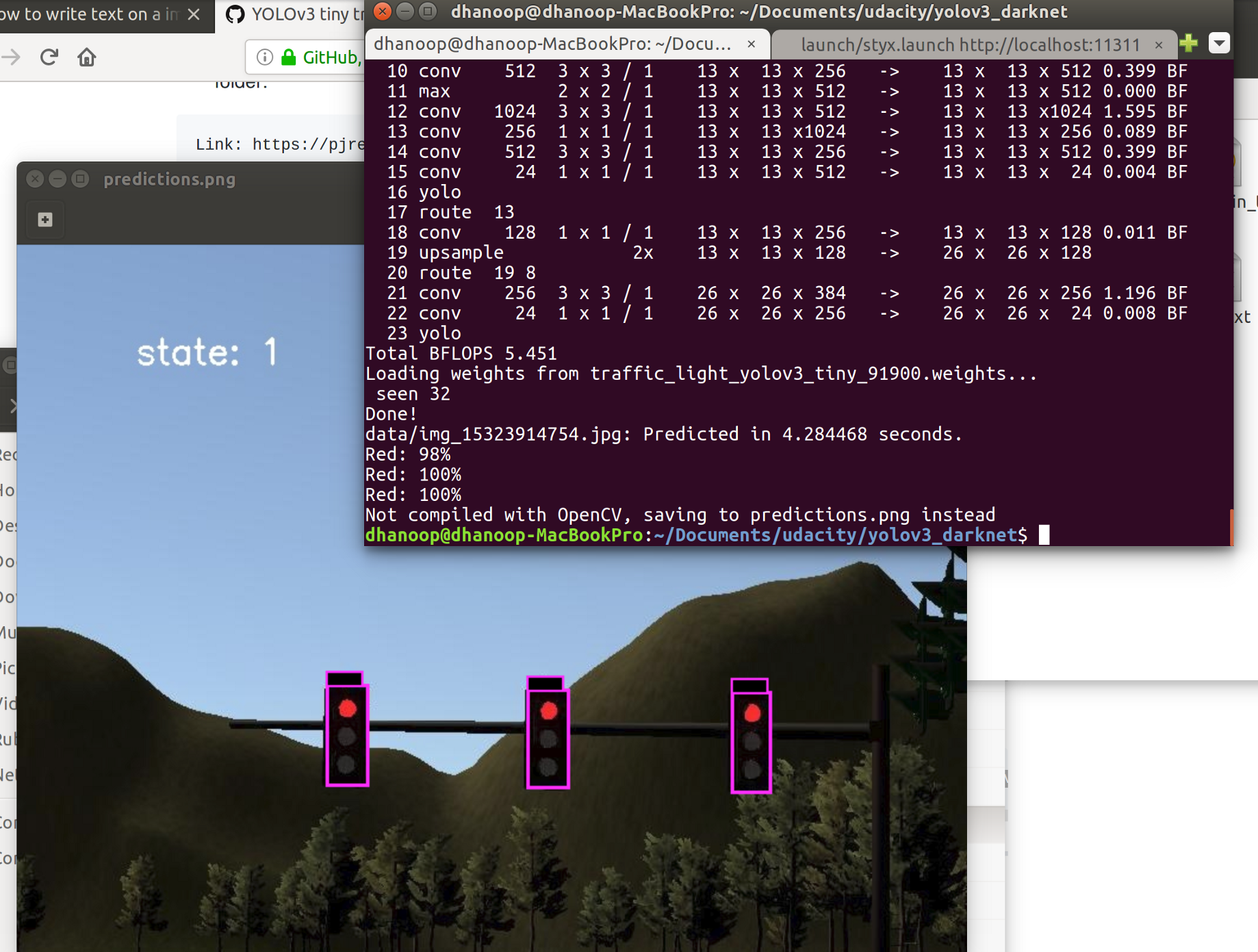 Run YOLO v3 as ROS node on Jetson tx2 without TensorRT