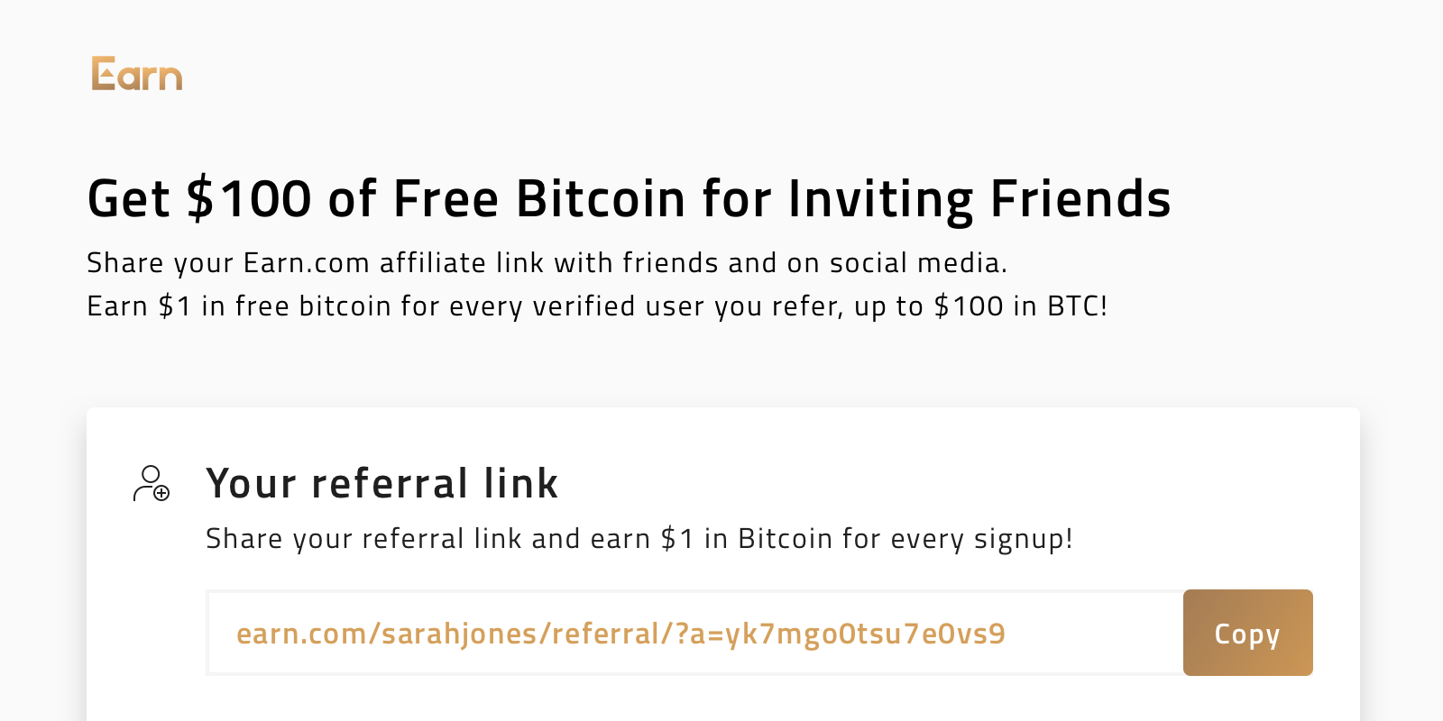 Get $100 of Free Bitcoin for Inviting People to Earn com
