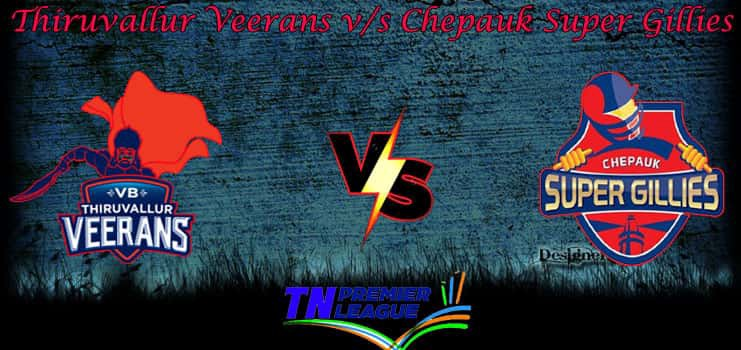 Chepauk Super Gillies vs VB Thiruvallur Veerans Free Betting