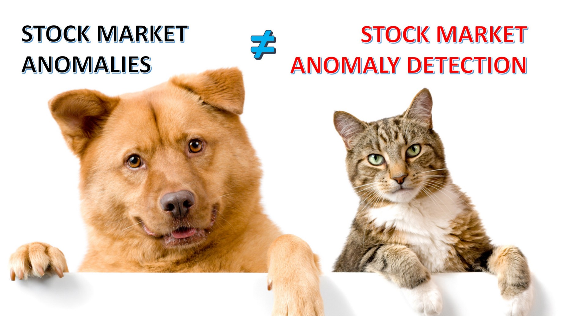 """Stock Market Anomalies"""" and """"Stock Market Anomaly Detection"""" Are Two"""