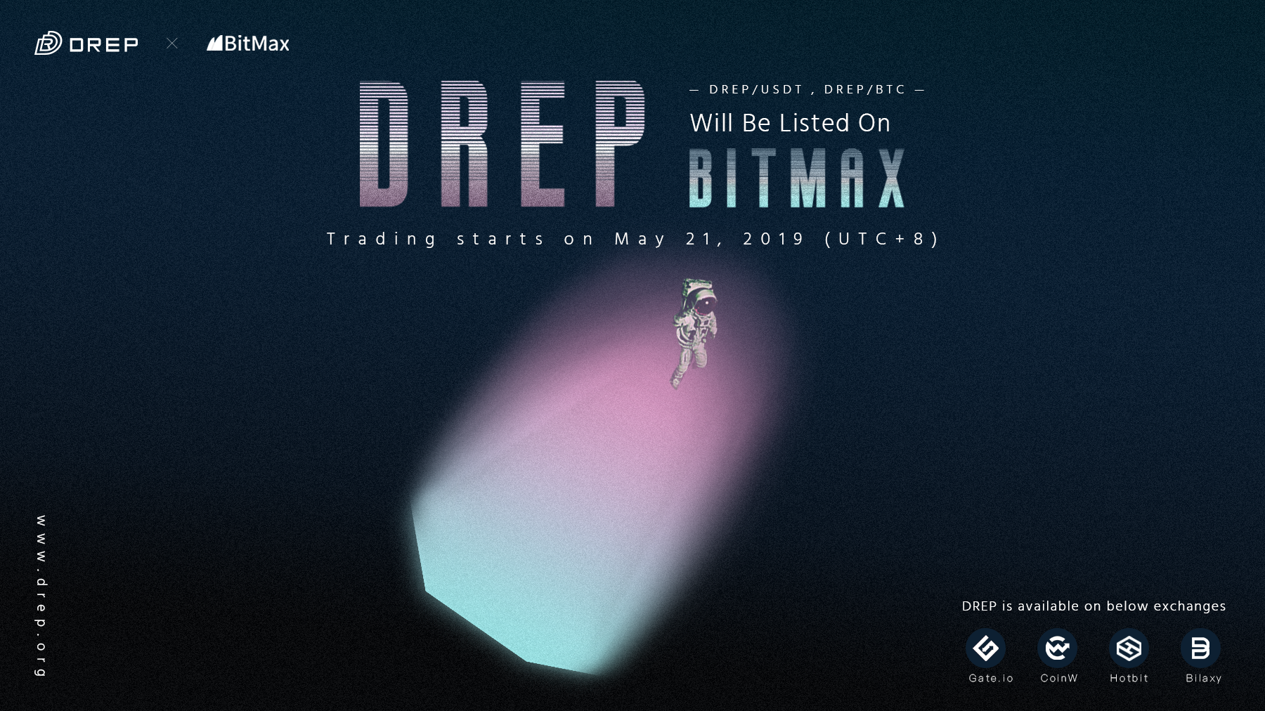 DREP on BitMax io on May 21 — Trading Activities Announced