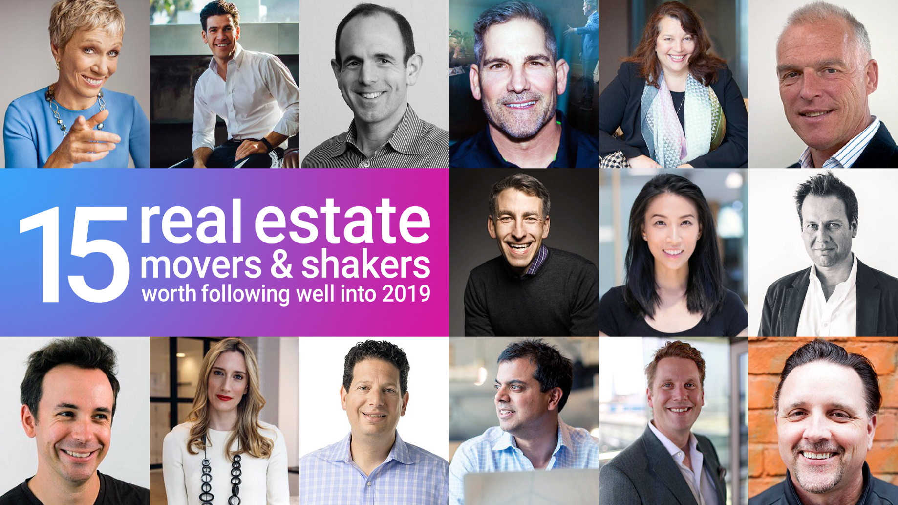 15 real estate movers 'n shakers worth following well into 2019