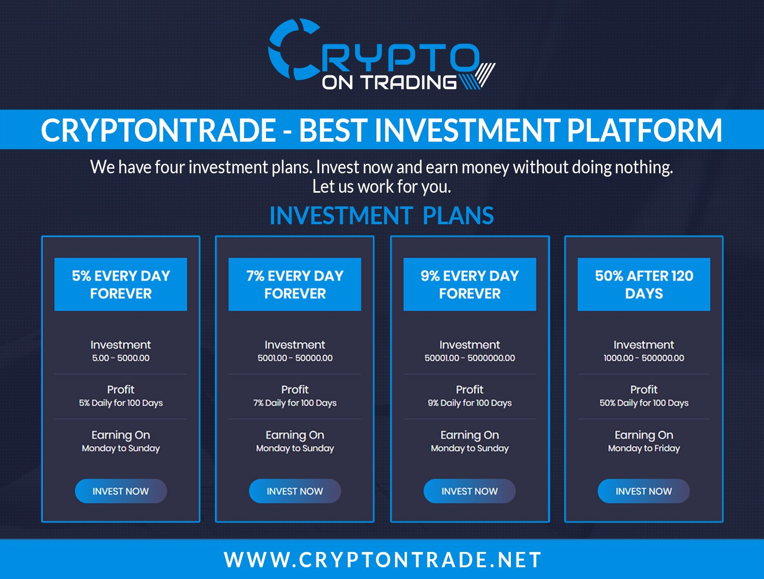 100% paying HYIP investment website, Invest your money here