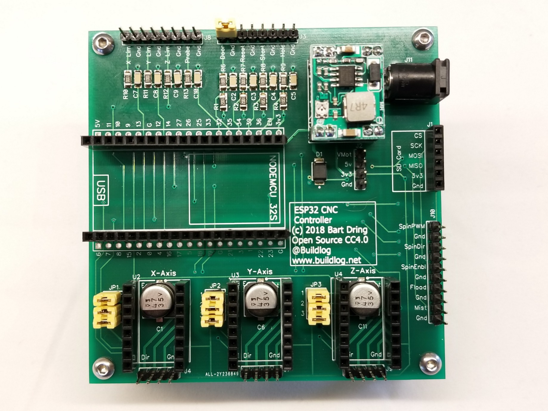 The Updated ESP32-Based Grbl CNC Control Board Is Now for Sale!