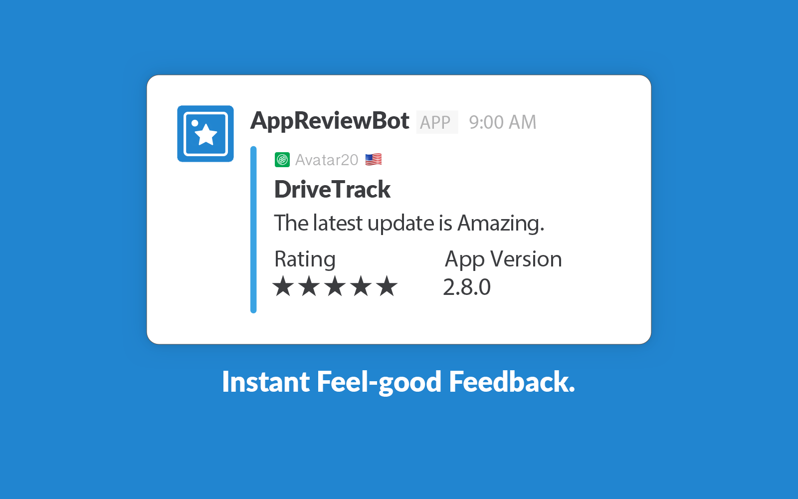 Get your iOS App Store Reviews in Slack with the Slack RSS Integration