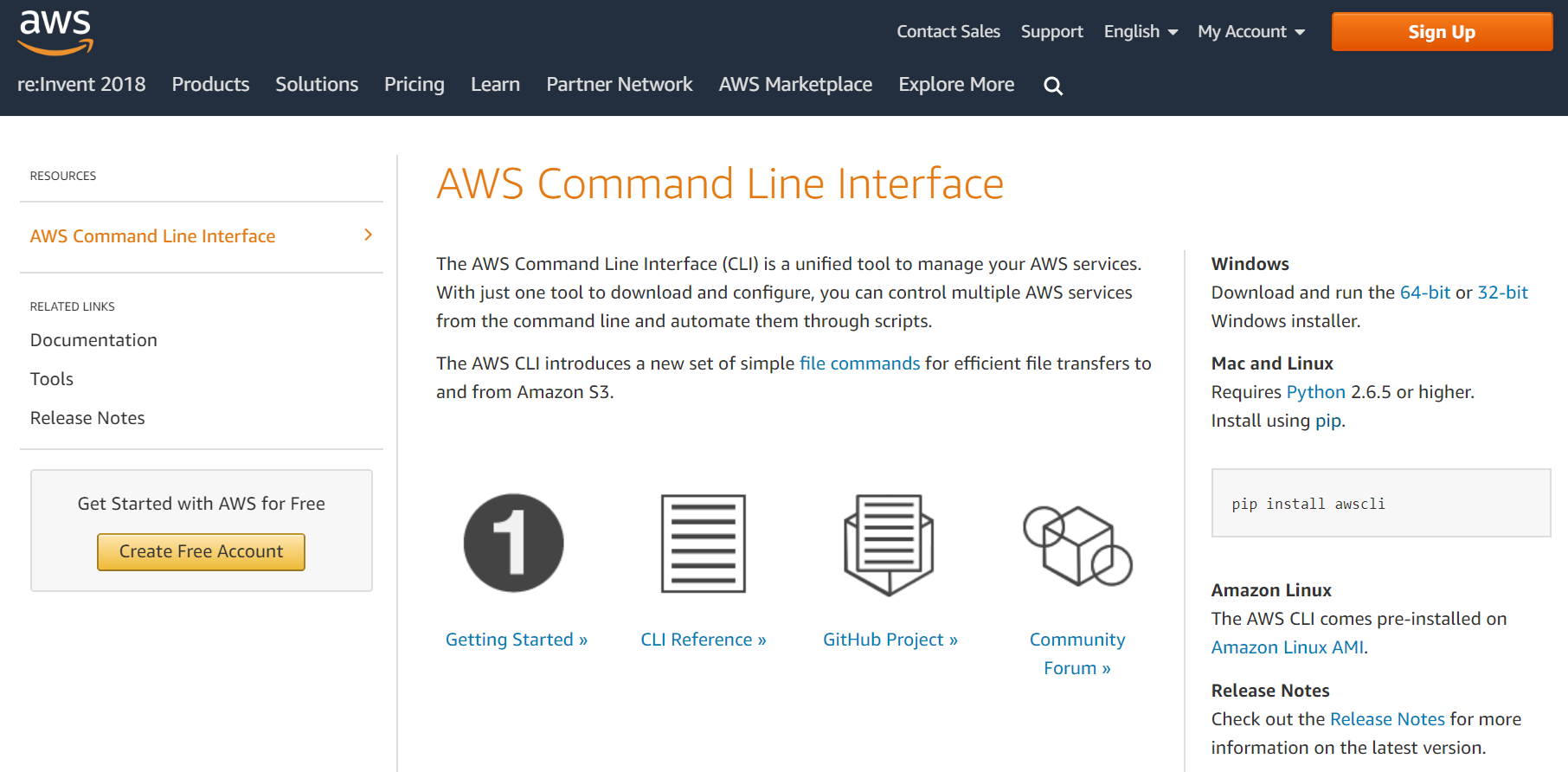 Accessing AWS services using command line interface on Windows
