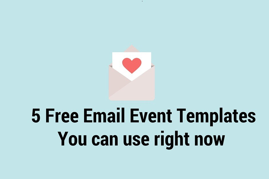 5 Free Event Email Templates You Can Use Right Now Eventgrid Blog