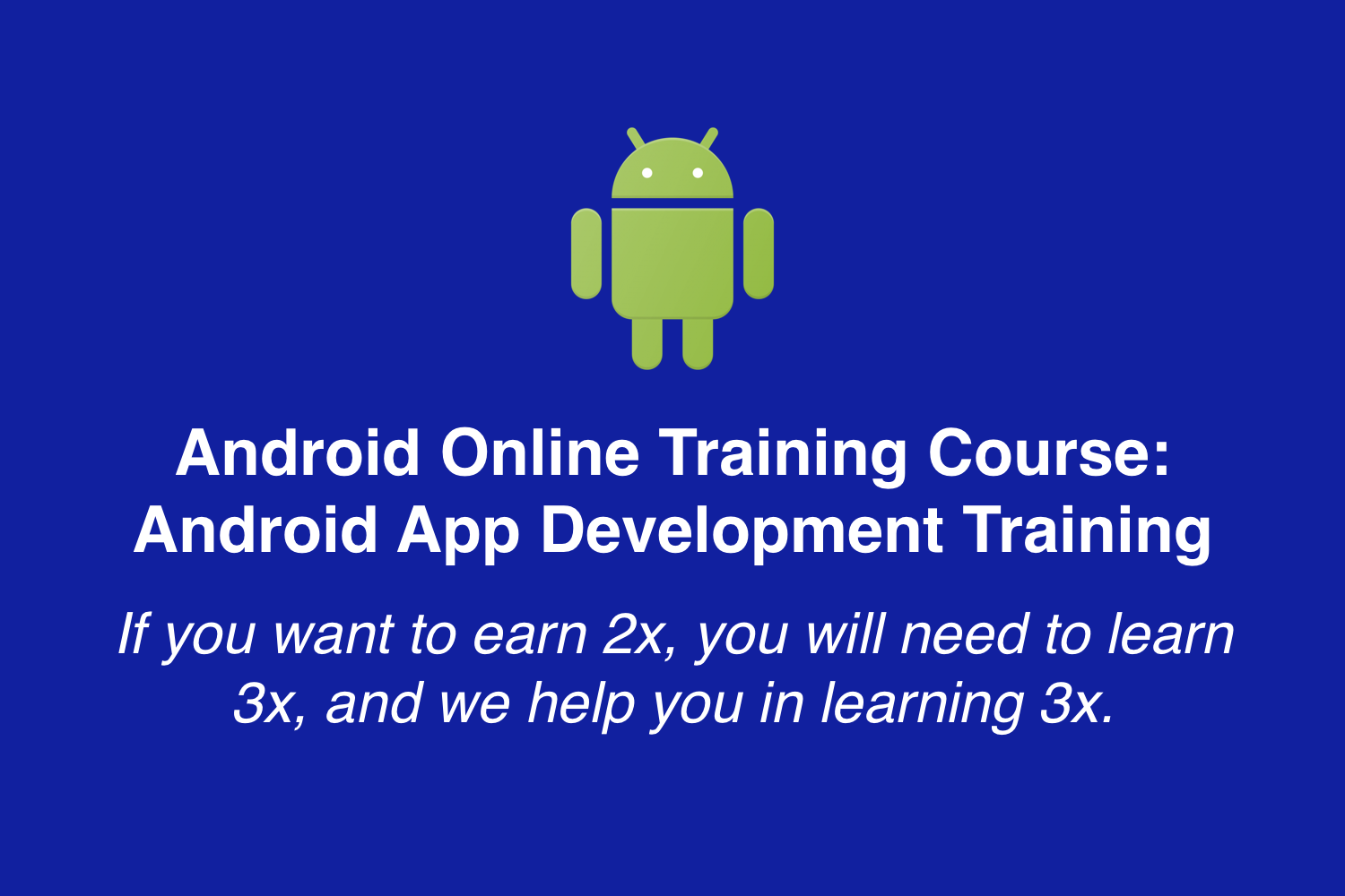 Android Online Training Course: Android App Development Training