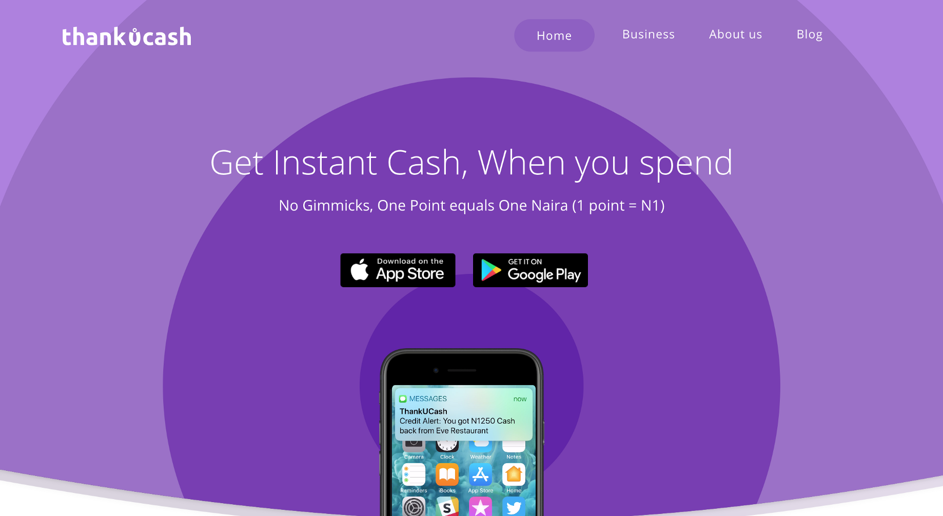 Get instant cash back when you spend with 'Thank U Cash'