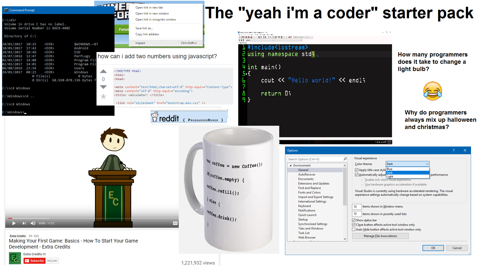 The Web Developer Starter Pack - codeburst