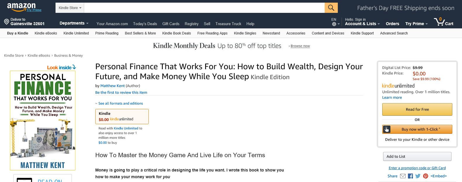 Why I'm Giving My Book Away For Free For the First Five Days