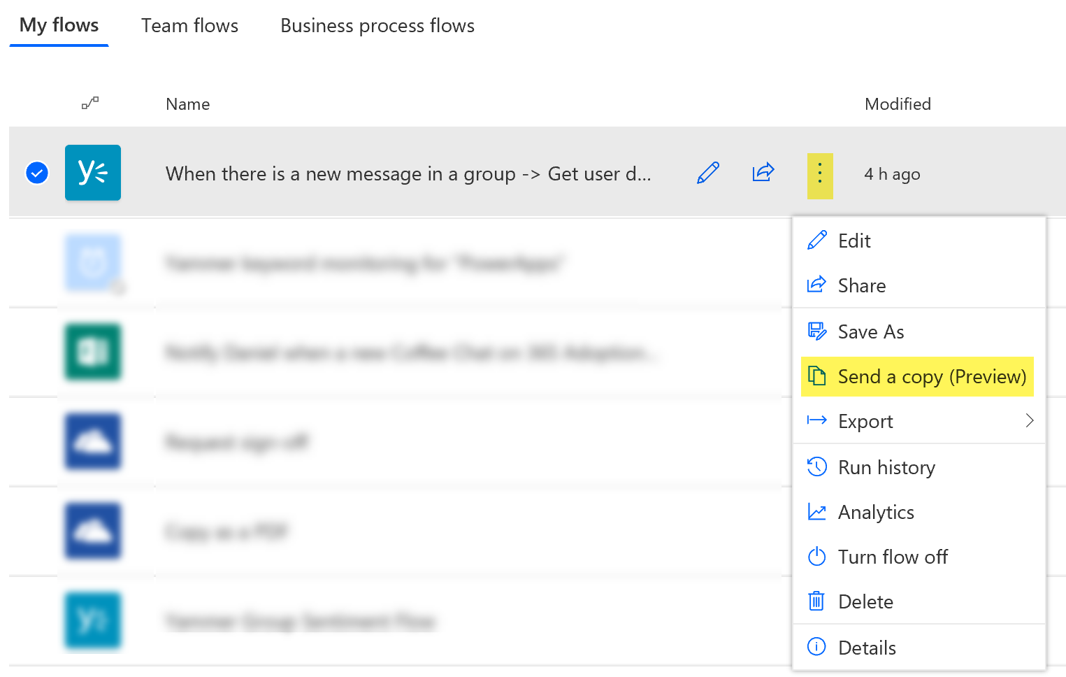 """The new """"Send a copy"""" feature in Microsoft Flow - REgarding 365"""