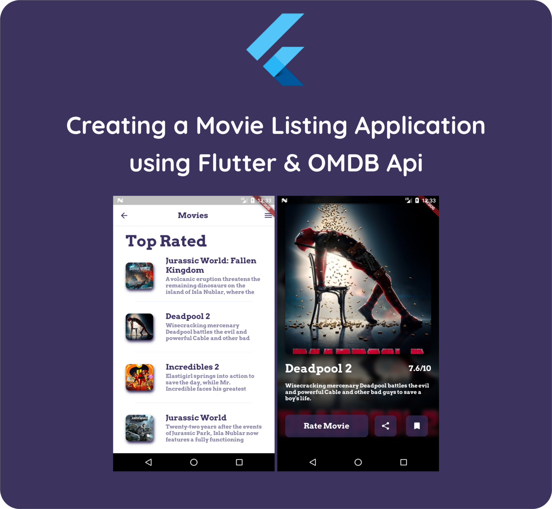 Flutter hands on : Building a movie listing app using Flutter (Part 1)