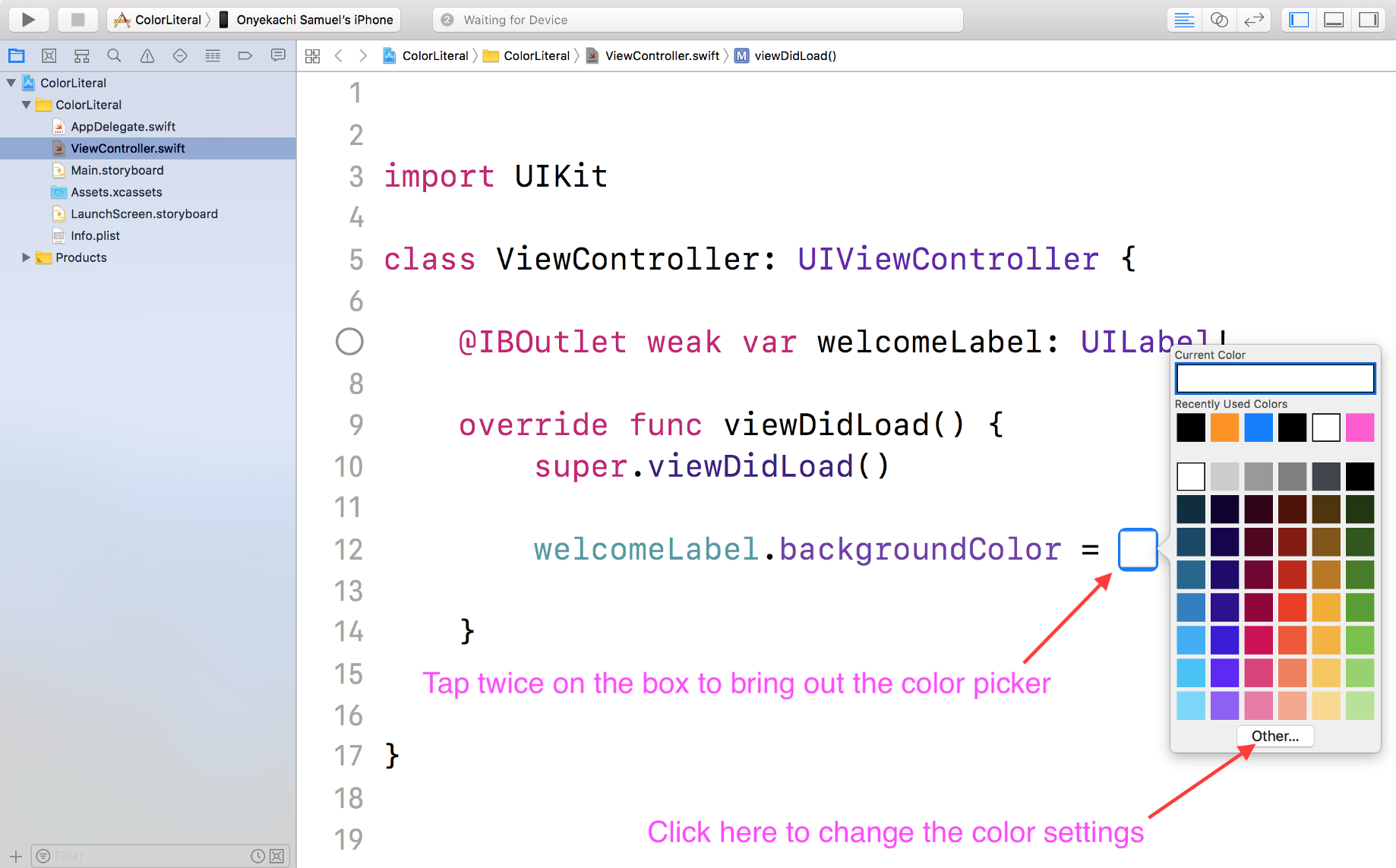 RGB Color combination in Swift with Color Literal - codeburst
