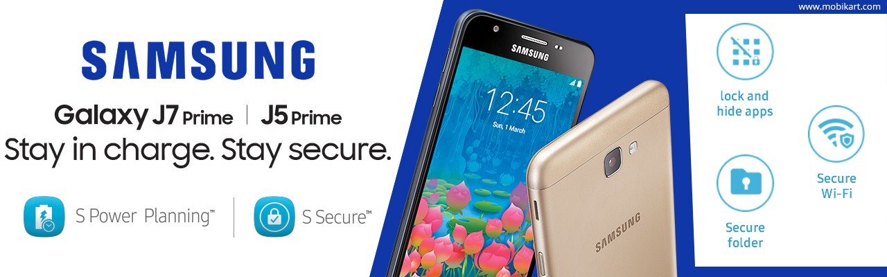 Samsung Unveiled the Galaxy J7 Prime and J5 Prime in India: Price