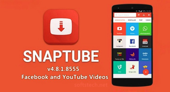 Download Snaptube App for Android, iOS / Windows Phones