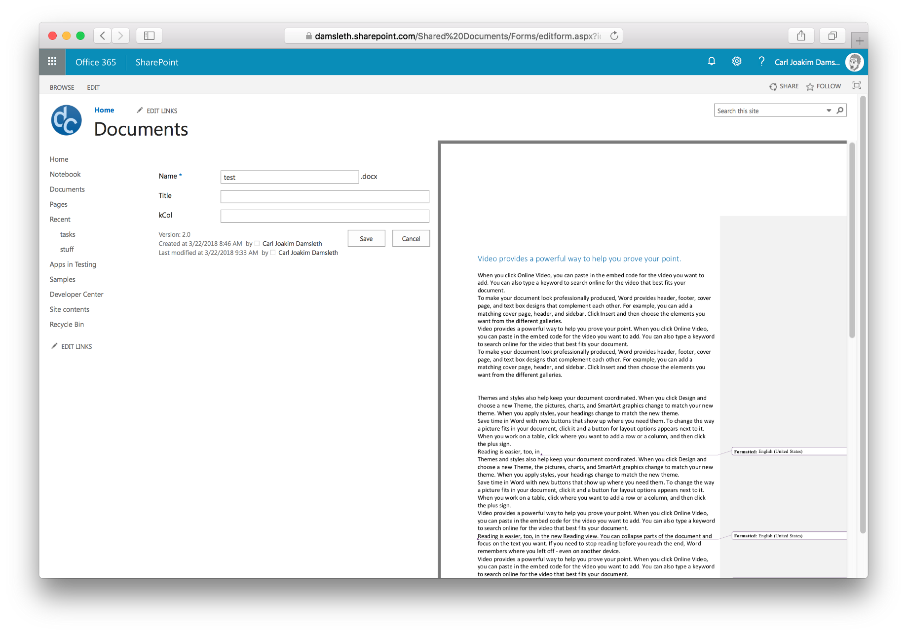 Inline PDF previews in SharePoint with Office Web Apps and JavaScript