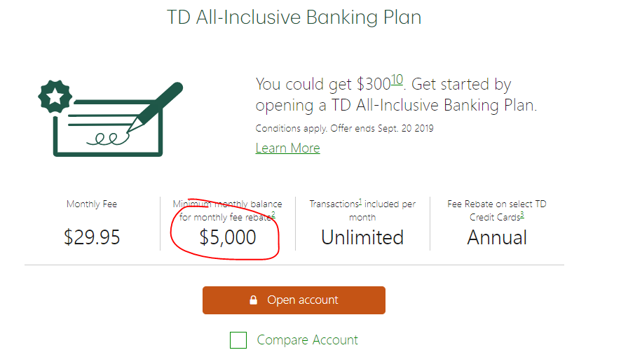 TD Student Line of Credit. There is a deadline → this might not