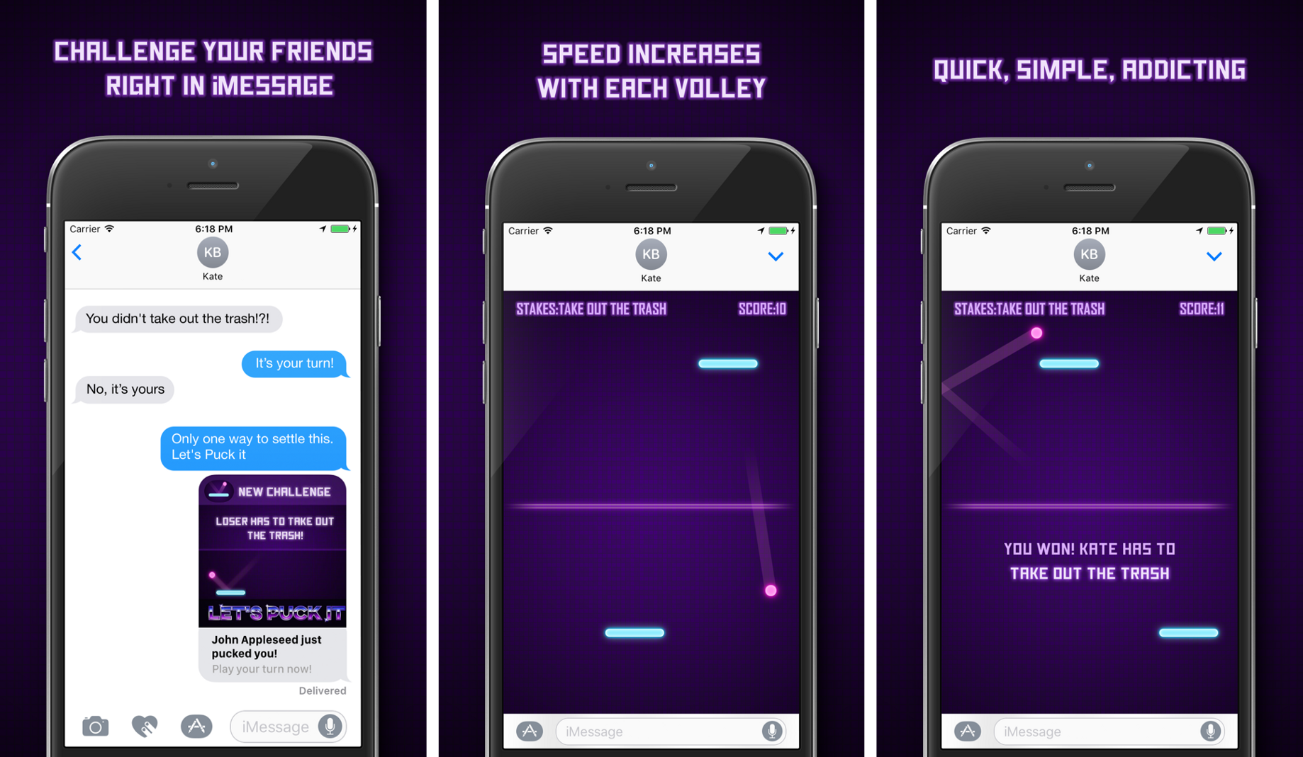 """iMessage app """"Let's Puck It!"""" has over 1 Million players doing"""