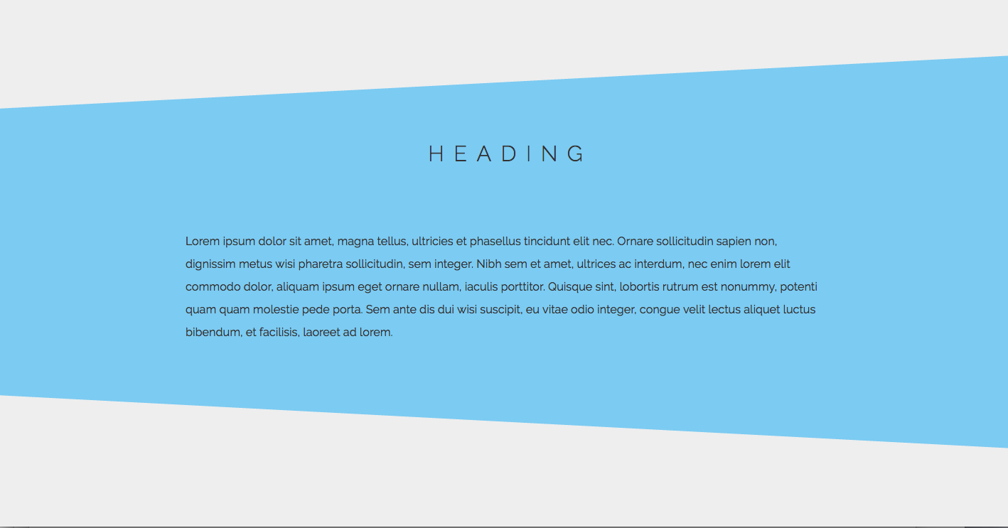 How to Use CSS3 Pseudo-Elements to Create Asymmetrical Designs