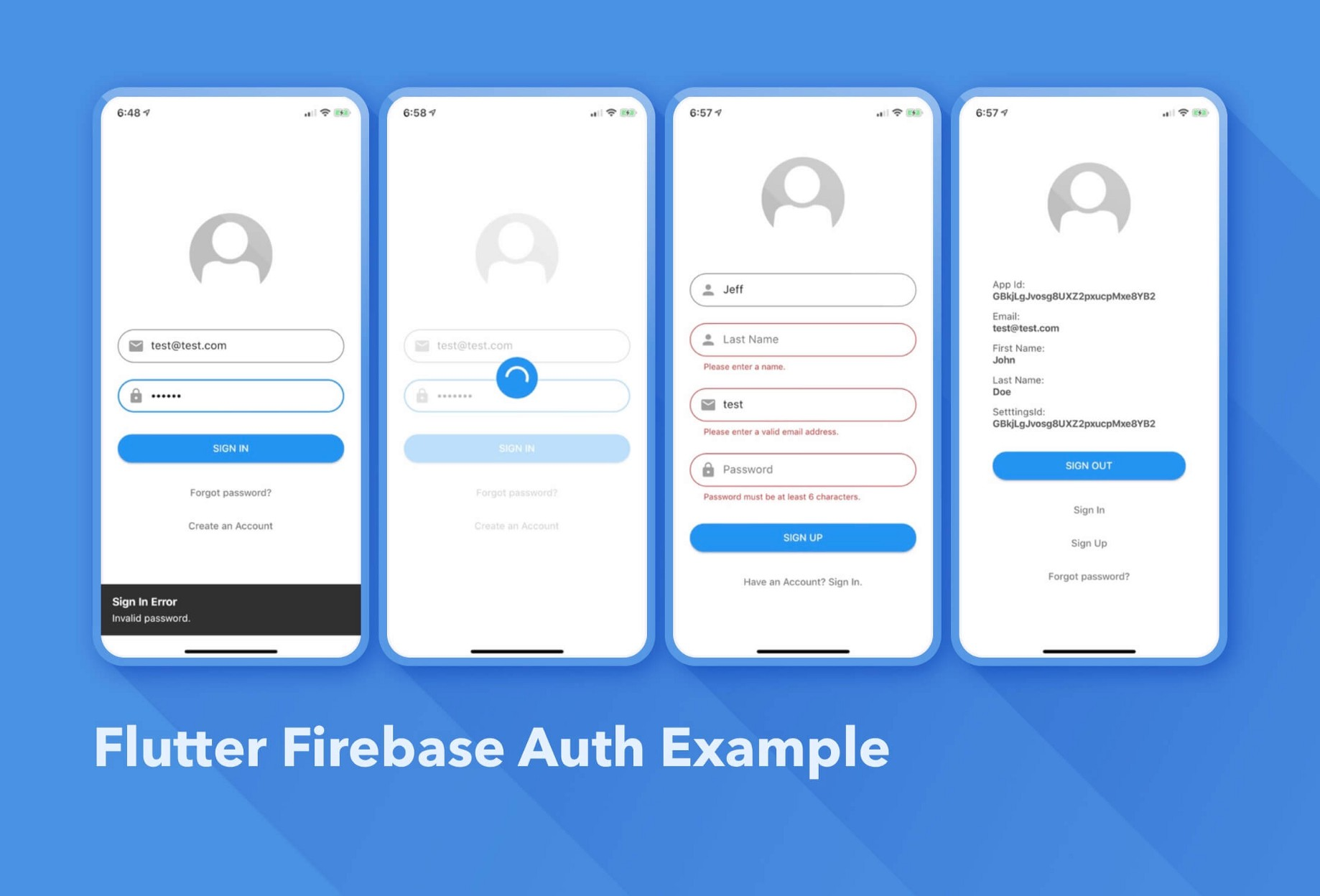 Flutter Auth with Firebase Example - Jeff McMorris - Medium