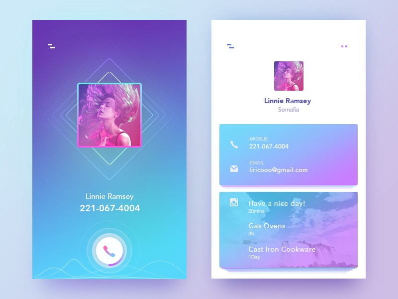 50 User profile page — Design Inspiration - Muzli - Design Inspiration