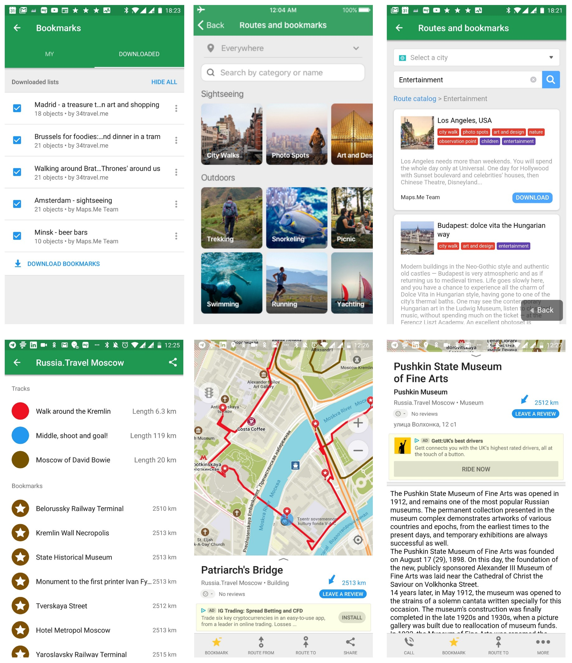 MAPS ME Routes & Bookmarks Catalog: Changing the Future of Travelling