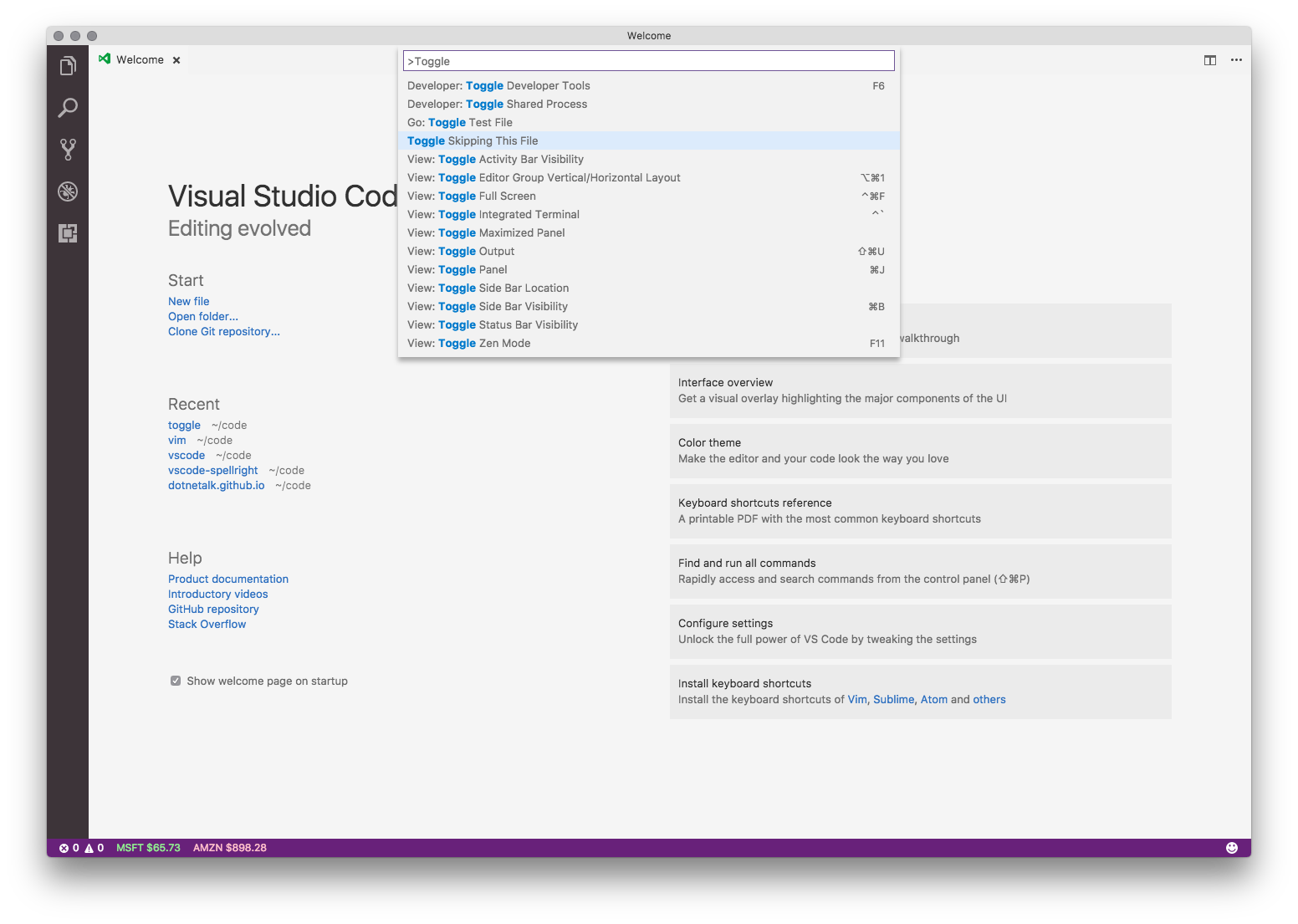 Toggle any setting in VS Code using keyboard shortcut arguments