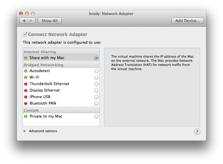 Sharing a network between your VMware Fusion Linux guest and your