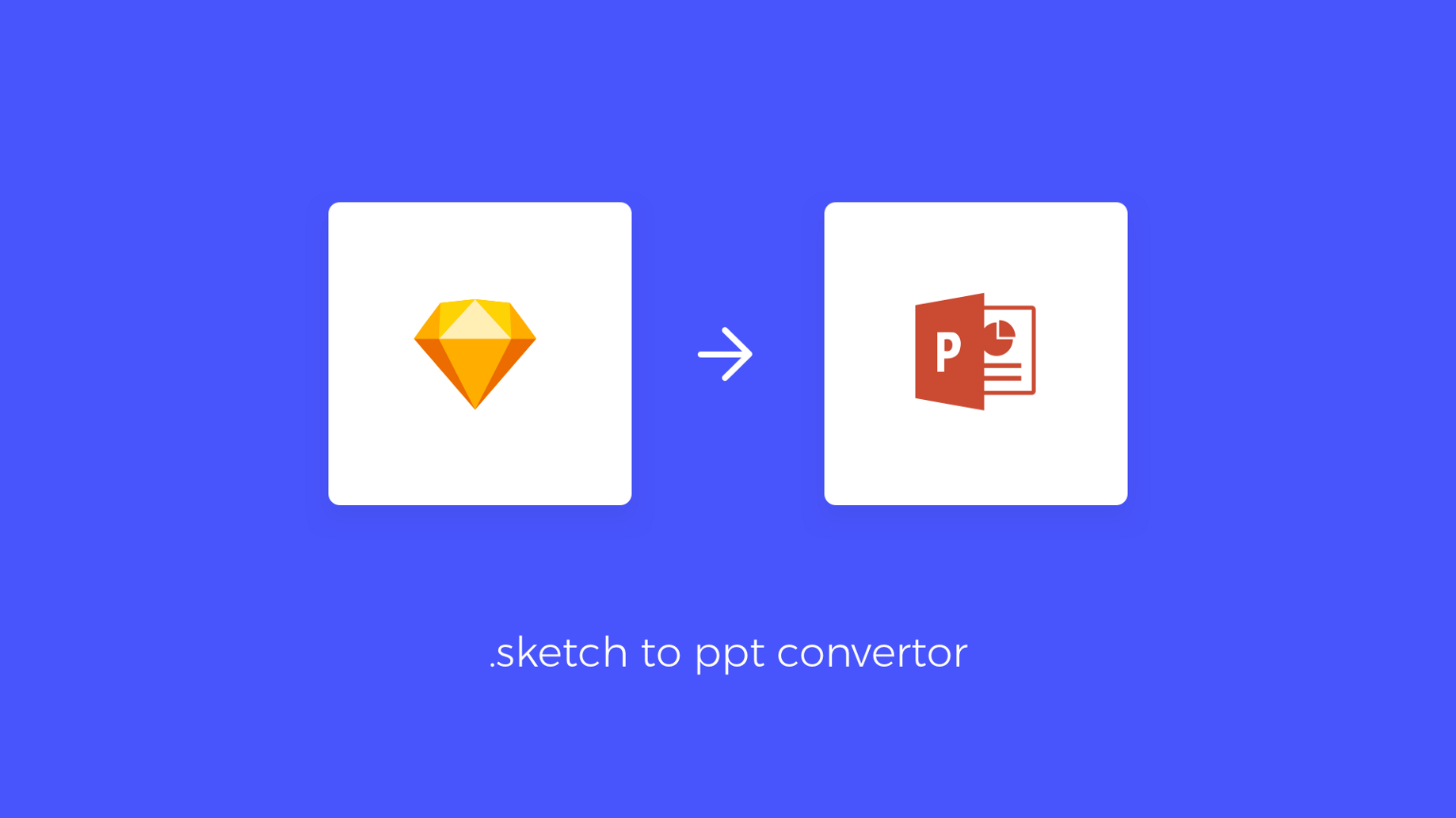 Time to design (ppt/key) presentations right in sketch and convert