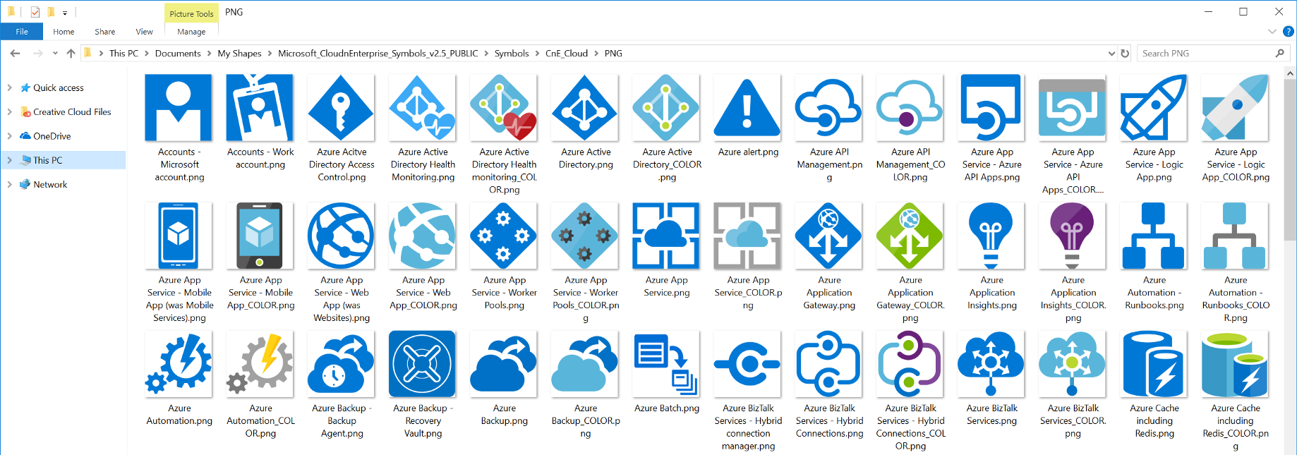 Microsoft Azure Symbol / Icon Set Download — Visio stencil, PNG, and SVG