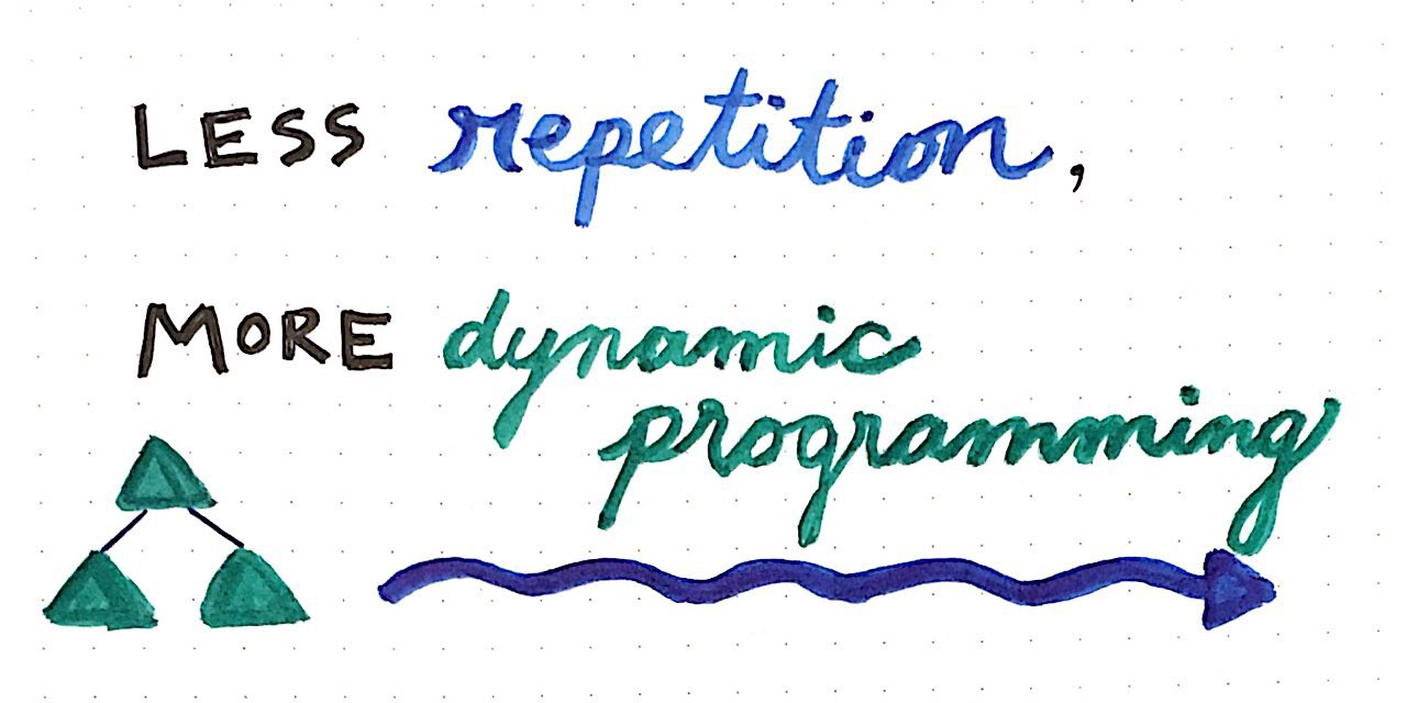 Less Repetition, More Dynamic Programming - basecs - Medium