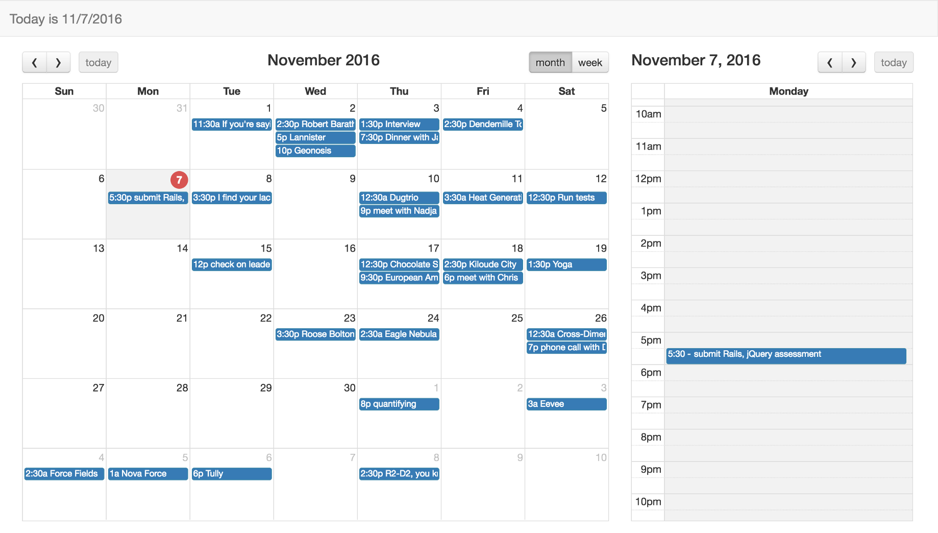 Creating a calendar app using Full Calendar, JavaScript, Bootstrap