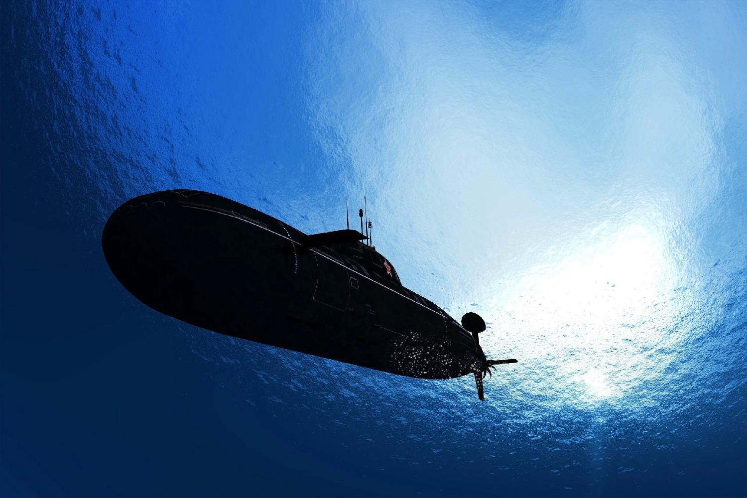 What makes a Submarine sink, but not enough to reach the ground?