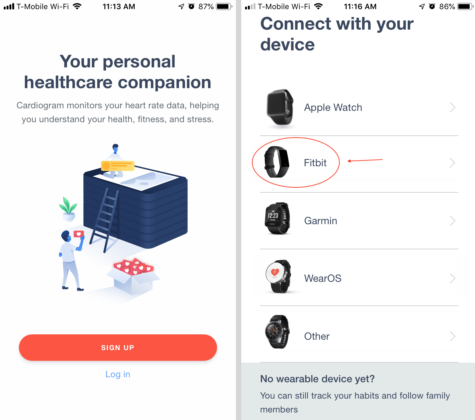 How to link your Fitbit with a heart rate sensor with the Cardiogram