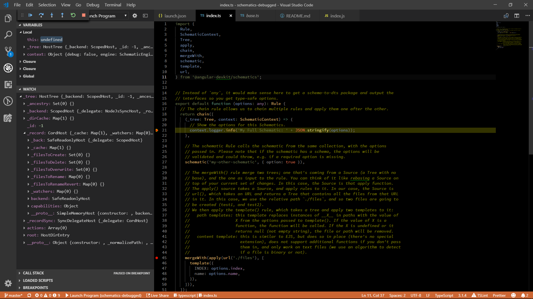 How to Debug an Angular Schematic using Visual Studio Code Make A Schematic on