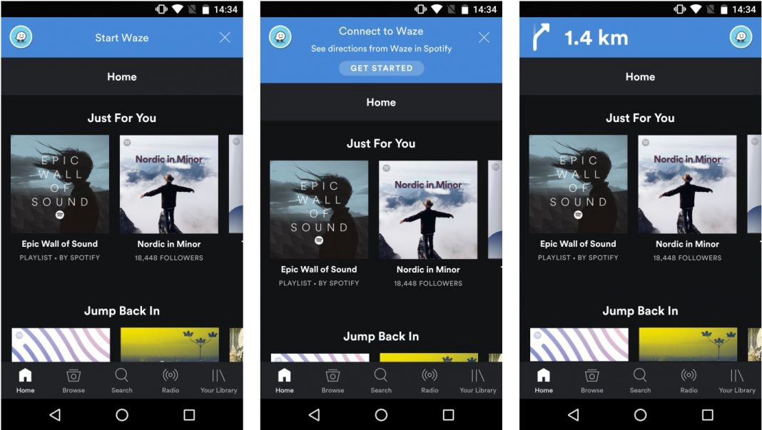 Spotify and Waze team up to play you music while navigating